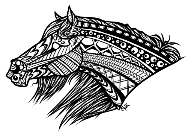 Mandala horse by malk white on deviantart - Mandala de chevaux ...