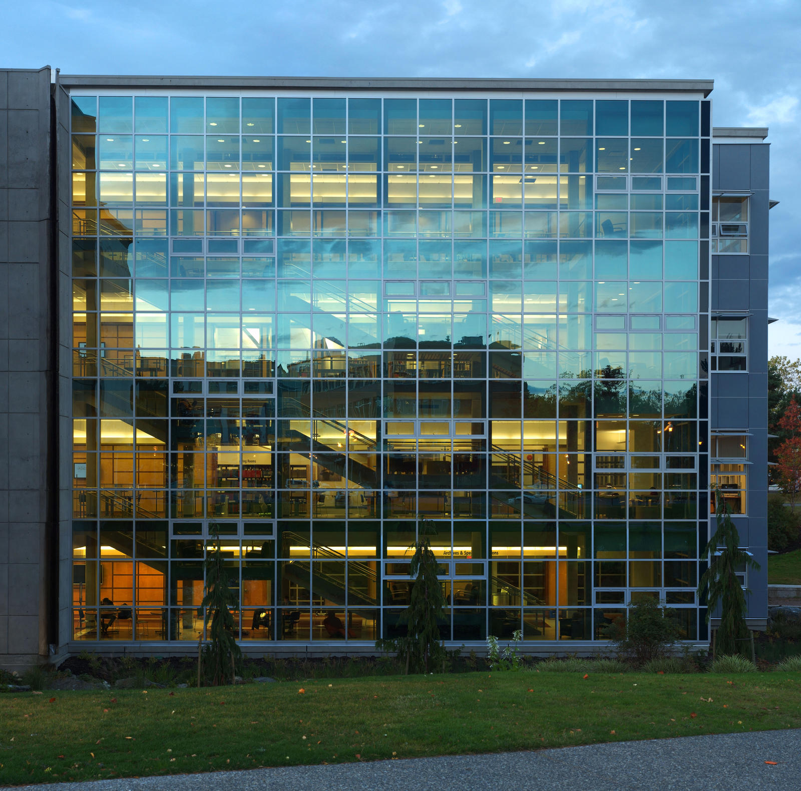 ... UVic Library Glass Facade by raptor-rapture