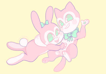 kitty and Bunny by Rogue-Incubi