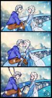 Jack/Elsa: surprise kiss