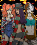 Sexy halloween's villains by deviart4ever