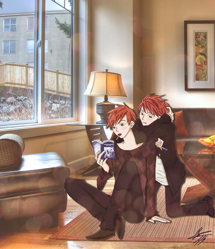 Hikaru and Kaoru by Karo0liNa