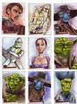 Clone Wars Sketch Cards 7