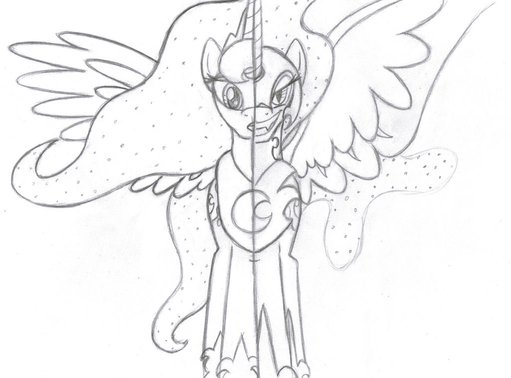 My Little Pony Coloring Pages Nightmare Moon : Luna nightmare moon by rmsaun on deviantart