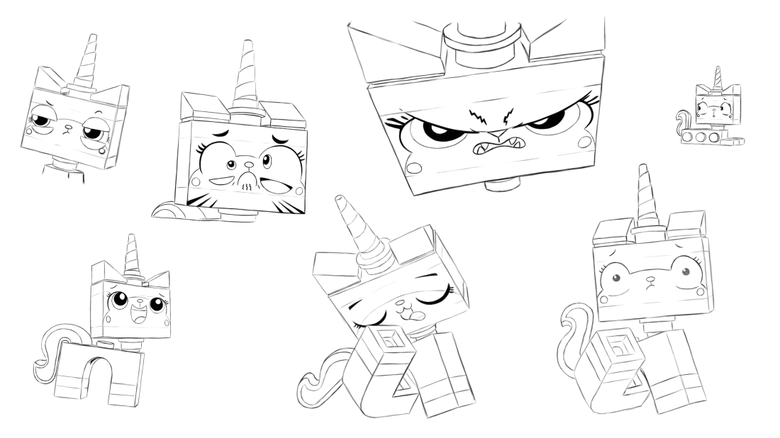 Princess Unikitty Coloring Pages : Lego the many faces of unikitty by rmsaun on deviantart
