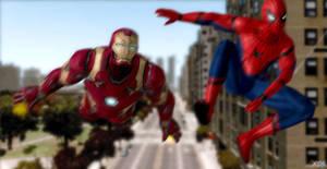 Teamup - Spiderman Homecoming : Fan art