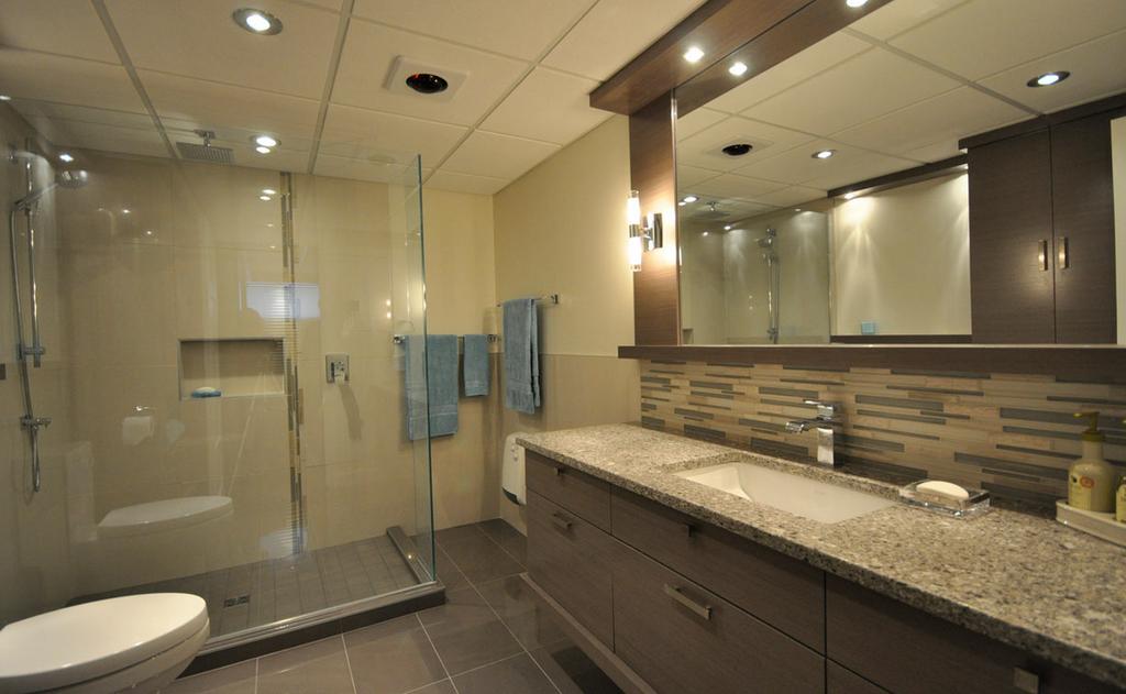 Projet de renovation de salle de bain au sous sol by for Salle bain sous sol