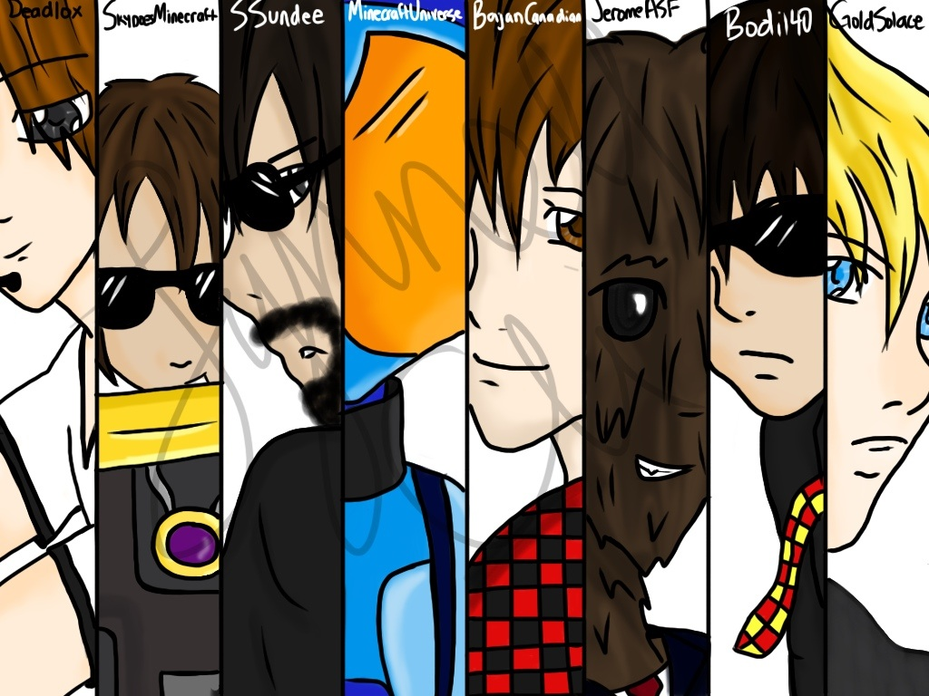 Minecraft Youtubers! by LoveLeeGamer on DeviantArt