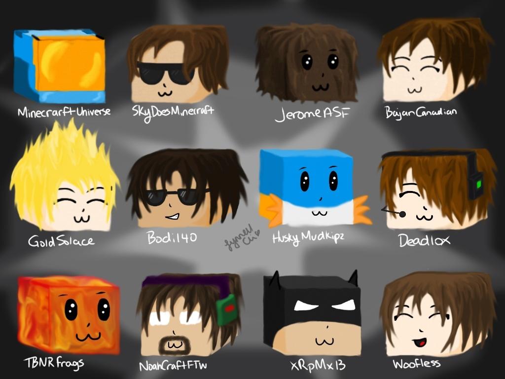 Youtubers by loveleegamer on deviantart minecraft youtuber skin faces
