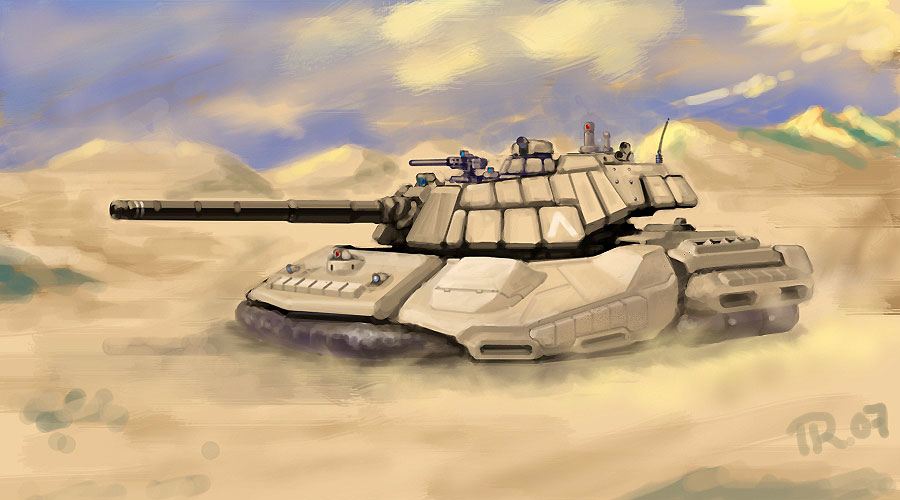 Halvizard Hovertank by RyujinDX