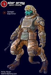 Gartagen Edjia Armor by RyujinDX
