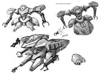 Lady Luck Mecha Concept by RyujinDX