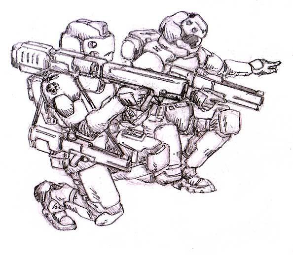 Infantry with Plasma Tube by RyujinDX
