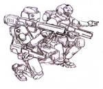 Infantry with Plasma Tube