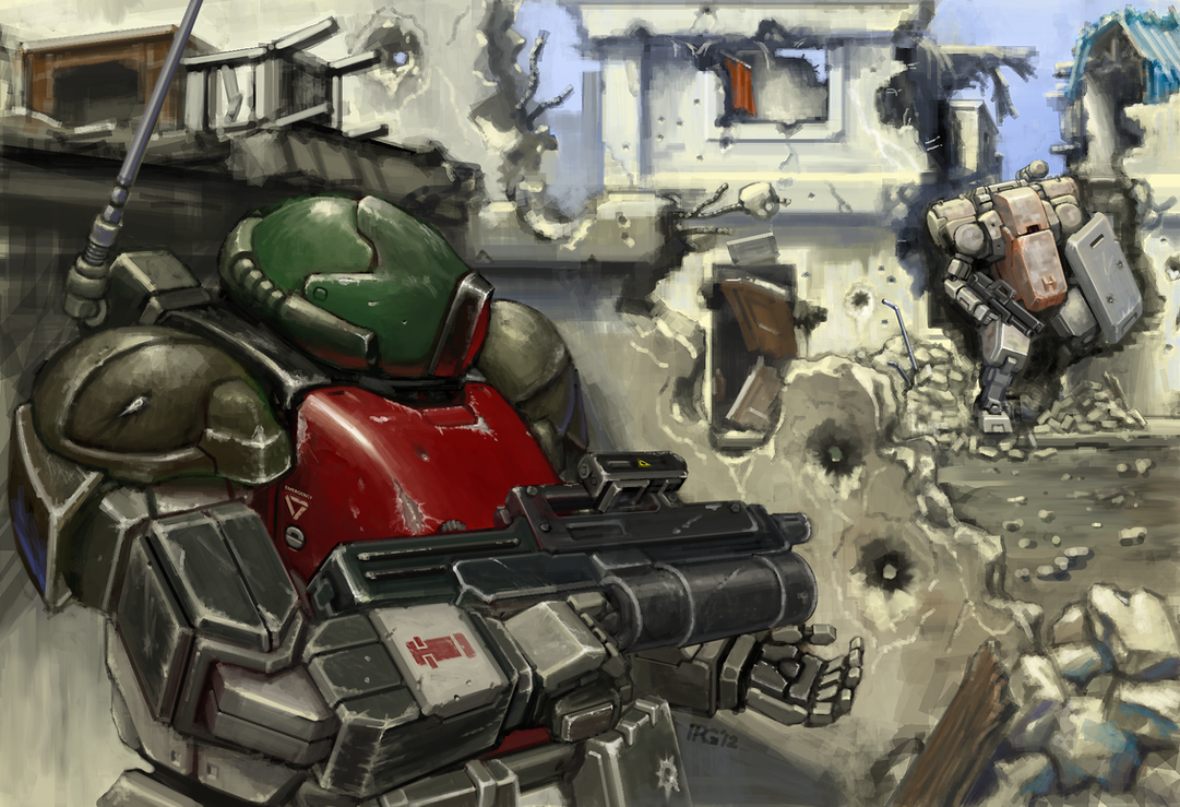 Chub vs. Commissar by RyujinDX