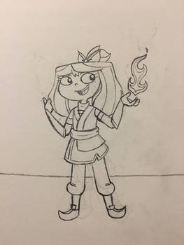 PnF AU: Isabella of the Fire Nation
