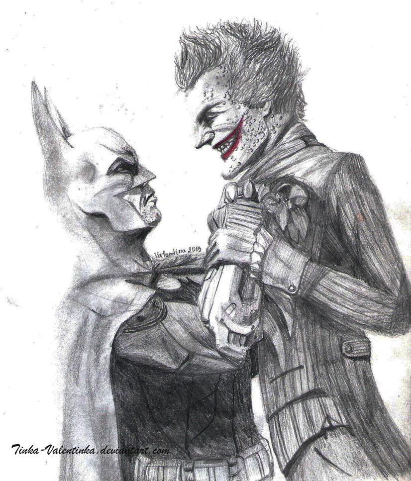 Batman vs Joker by Tinka-Valentinka on DeviantArt