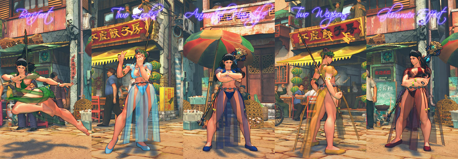 Chunli Warrior Princess Features at a Glance by BrutalAce