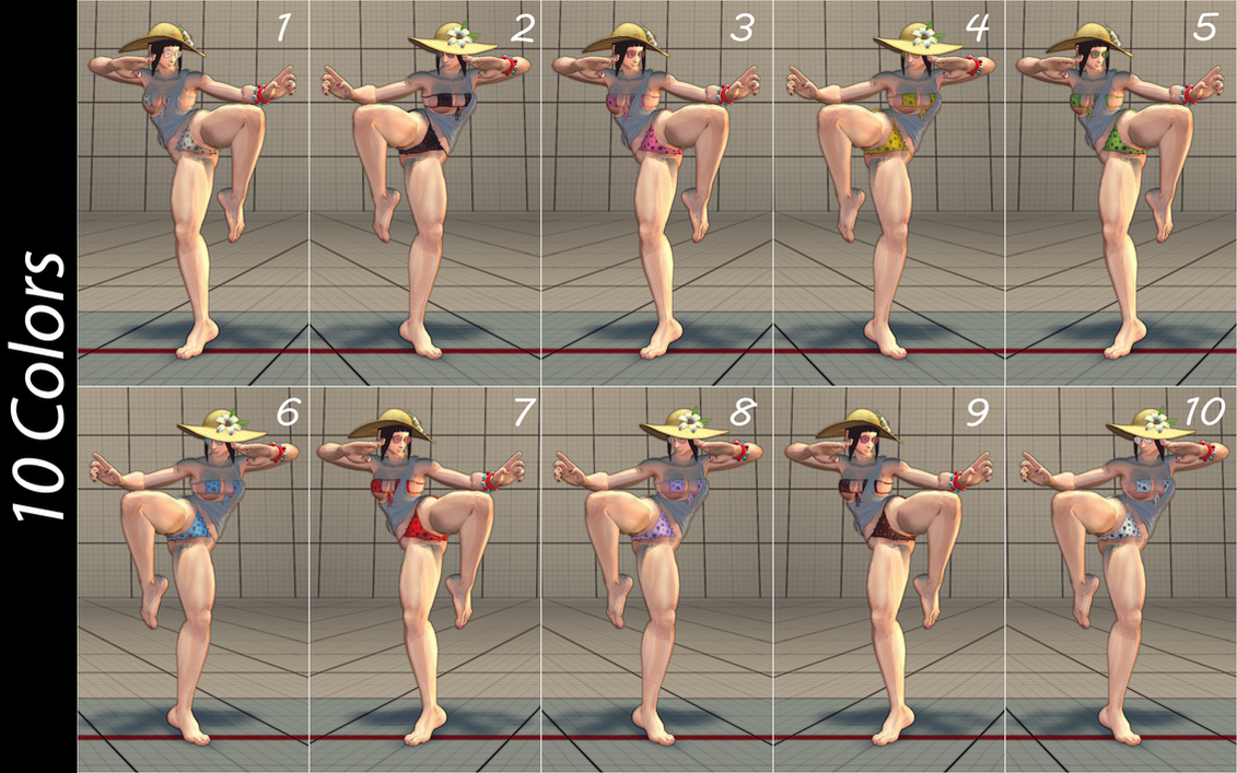 Juri Sensuous Bikini 10 Colors by BrutalAce