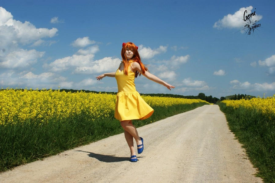 Asuka Langley Soryu - Yellow Dress - NGE by GeniMonster
