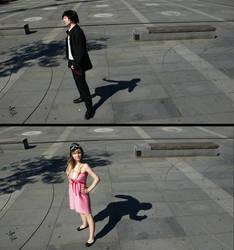 Koyomi Araragi x Shinobu Oshino - Bakemonogatari by GeniMonster