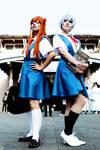 Asuka Langley Soryu x Rei Ayanami - NGE - [School]