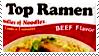 Top Ramen BEEF stamp by henrilucwolf