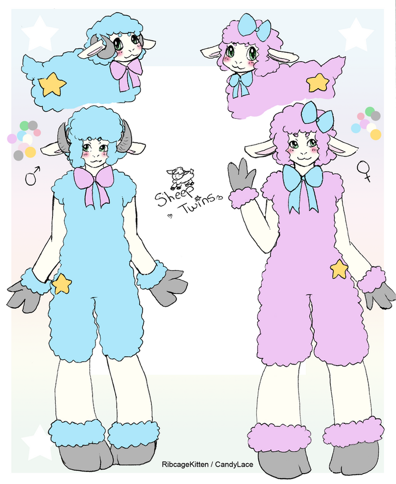 Sheep Twins Ref by RibcageKitten