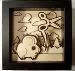 burned rat shadow box