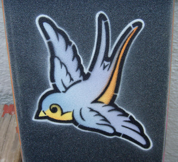 grip tape swallow stencil by matt136 on deviantART