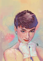 Audrey Hepburn by Among-Stars