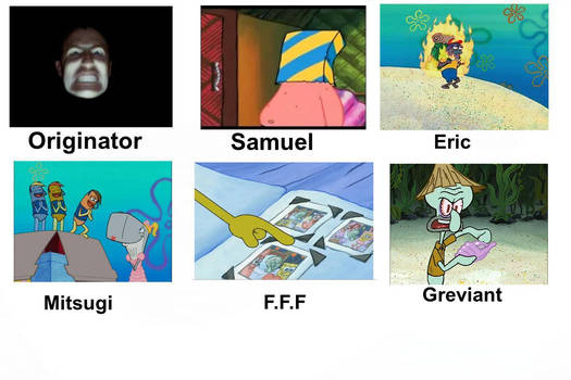 Originator Characters Portrayed by Spongebob