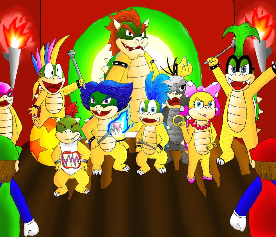 Mario, Luigi And The Koopa Kids By Firefaii On DeviantArt