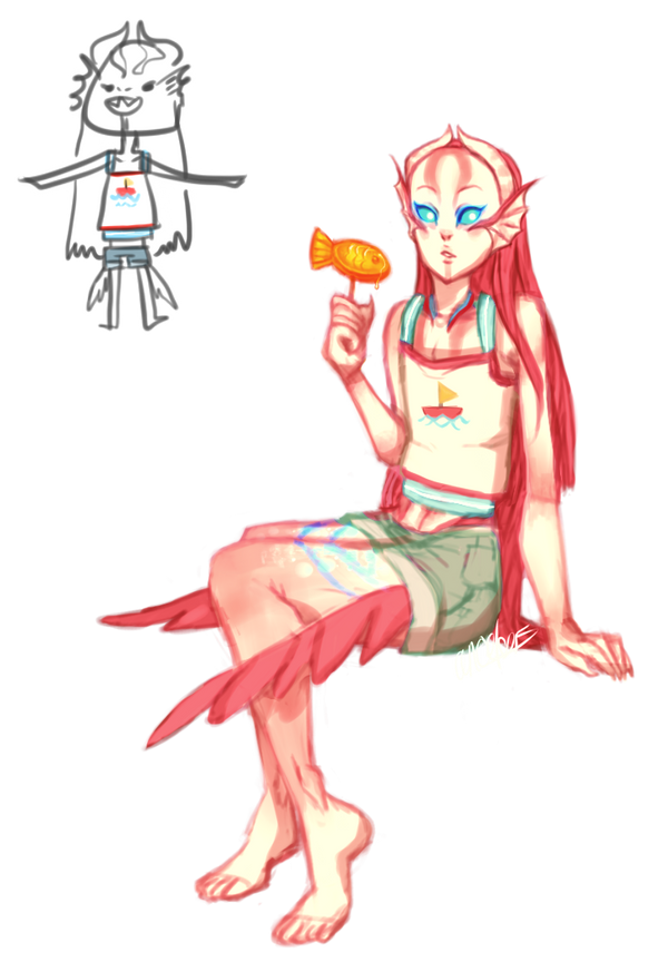 Fish Don't Like Clothes by angelmermaid