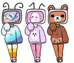 (2/3 OPEN) 17 pt TV heads