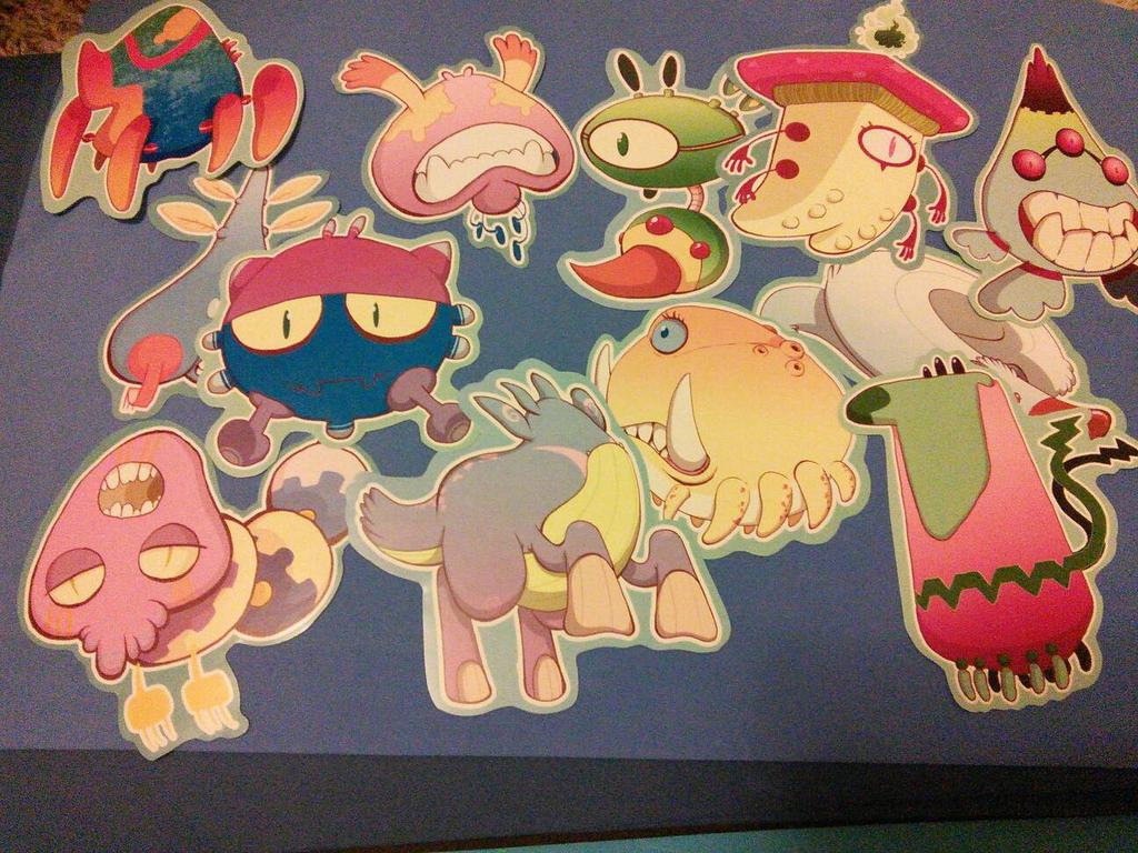 nightmare monster stickers by SolomonMars
