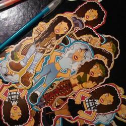 Kiera sticker set printed by SolomonMars