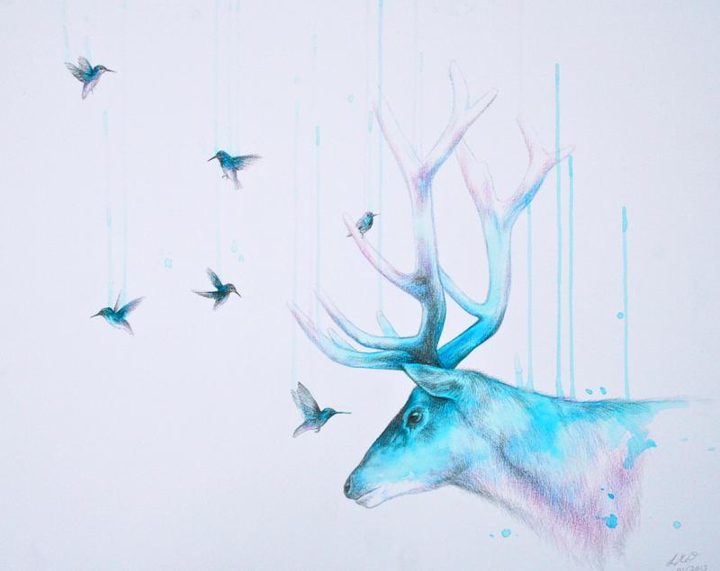 In the stillness of a hummingbird's eye... by LouiseMcNaught