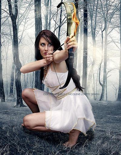 Moon Huntress by Waterfall24