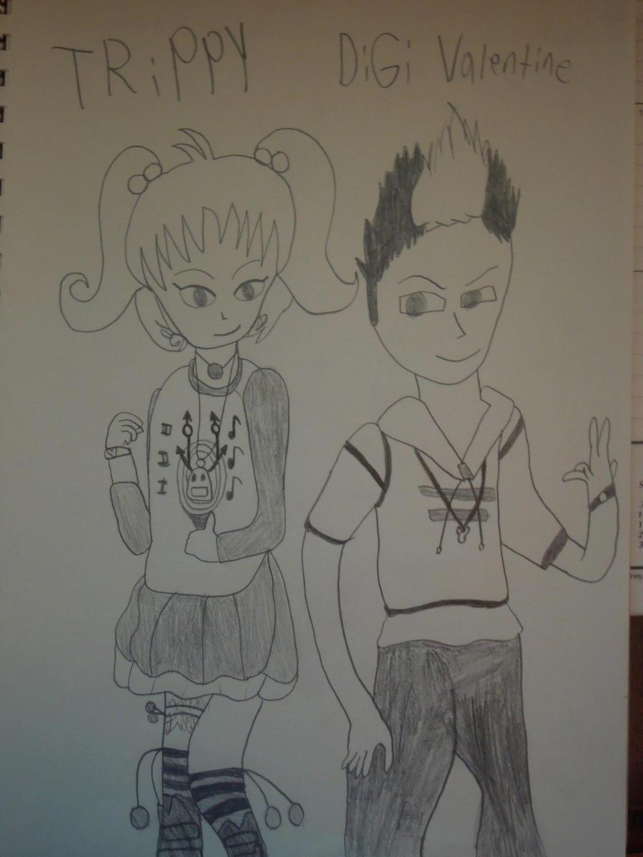 TRiPPY and DiGi Valentine by MidniteAndBeyond