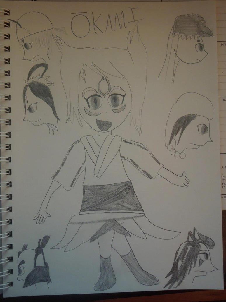 Okami Amaterasu by MidniteAndBeyond