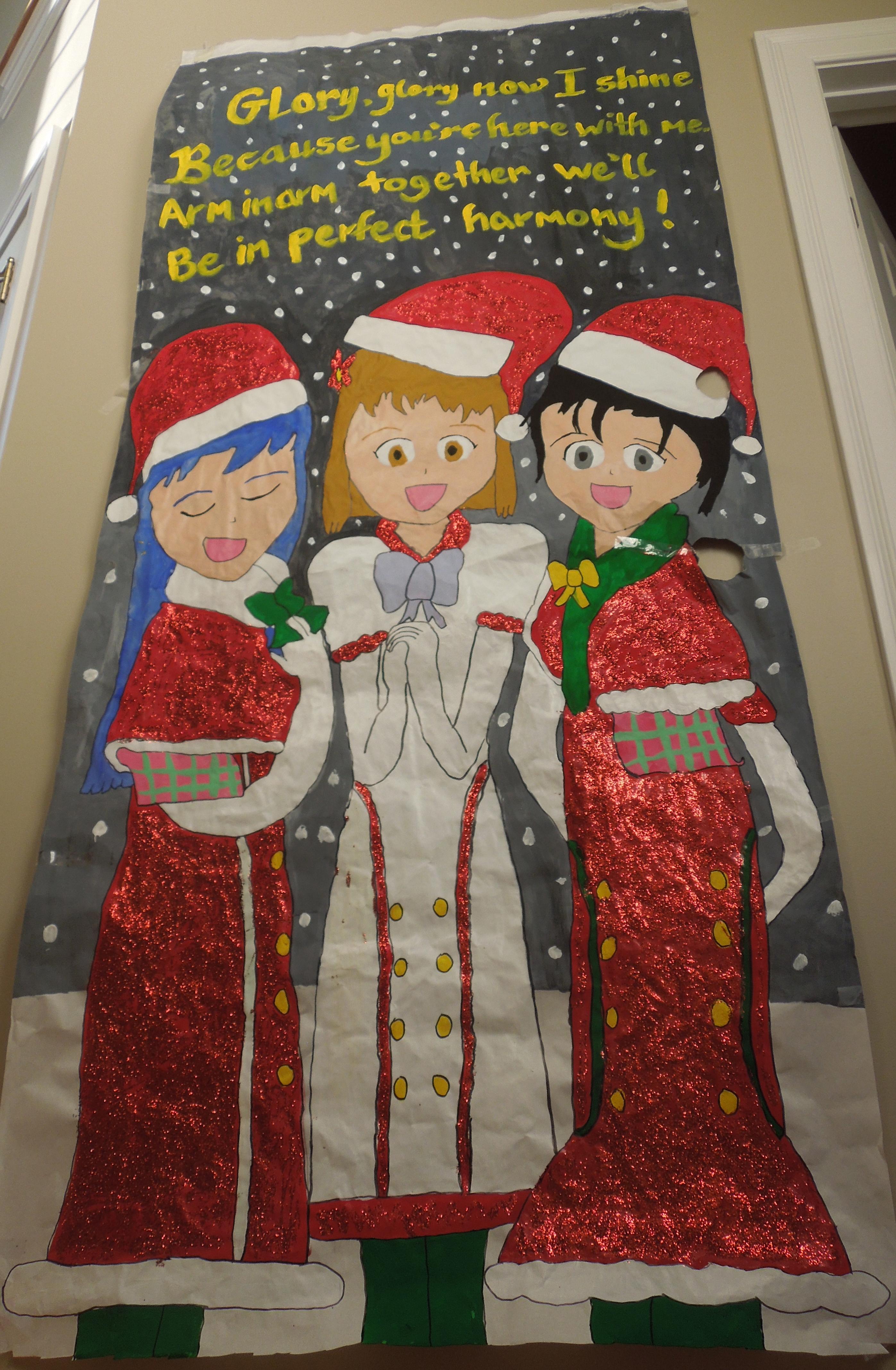 iDOLM@STER Christmas Door by MidniteAndBeyond