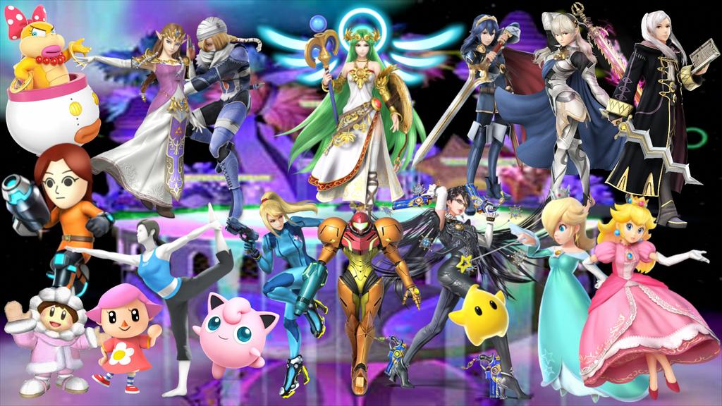 Super Smash Sisters Wallpaper by MidniteAndBeyond