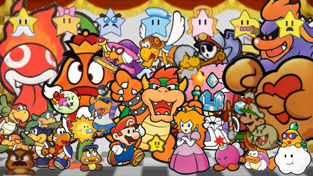 Paper Mario Wallpaper by MidniteAndBeyond