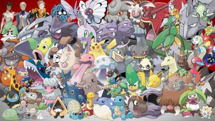 Pokemon Partners Wallpaper by MidniteAndBeyond