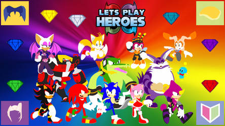 Let's Play Sonic Heroes Wallpaper (Flat Version)