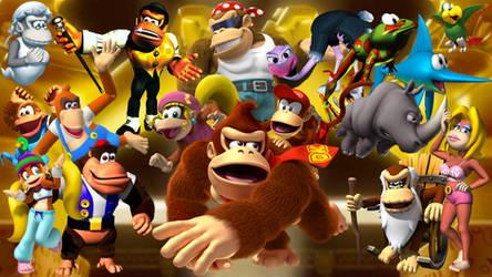 Donkey Kong Country Wallpaper by MidniteAndBeyond