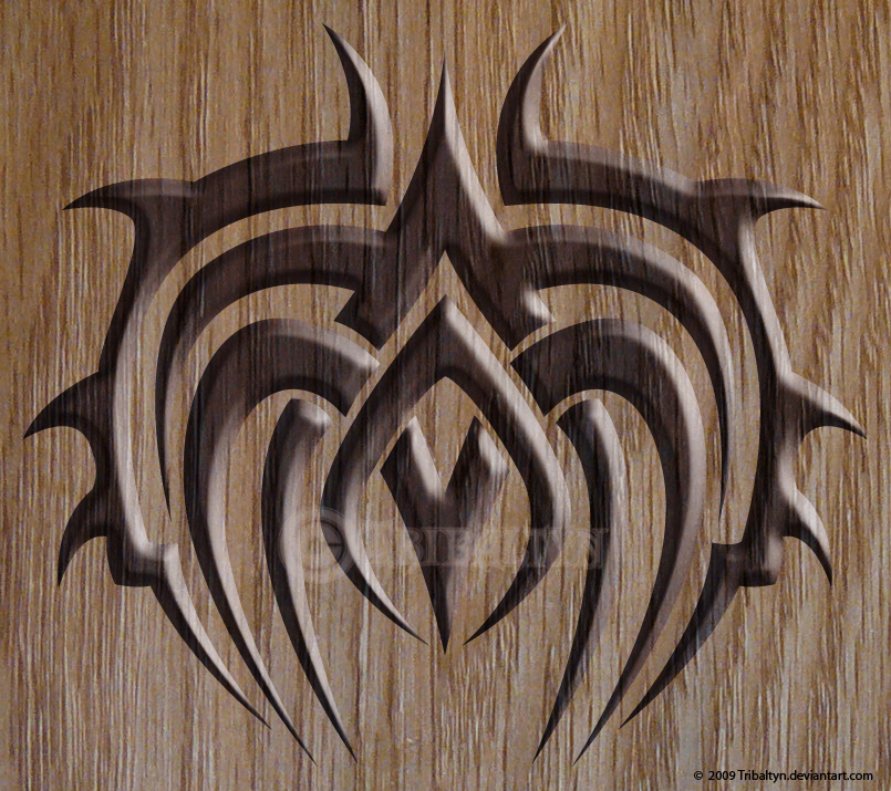 tribal thor 39 s shield by tribaltyn on deviantart. Black Bedroom Furniture Sets. Home Design Ideas