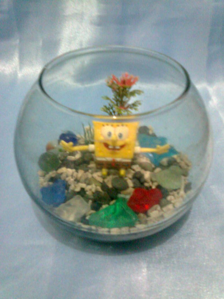 spongebob in a fishbowl by blackyuna