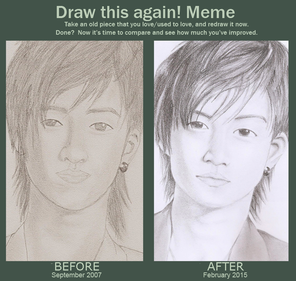 Before and After meme: Oguri Shun by blackyuna